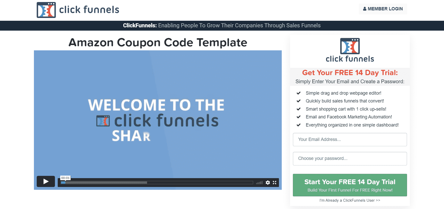 ClickFunnels $19 Page