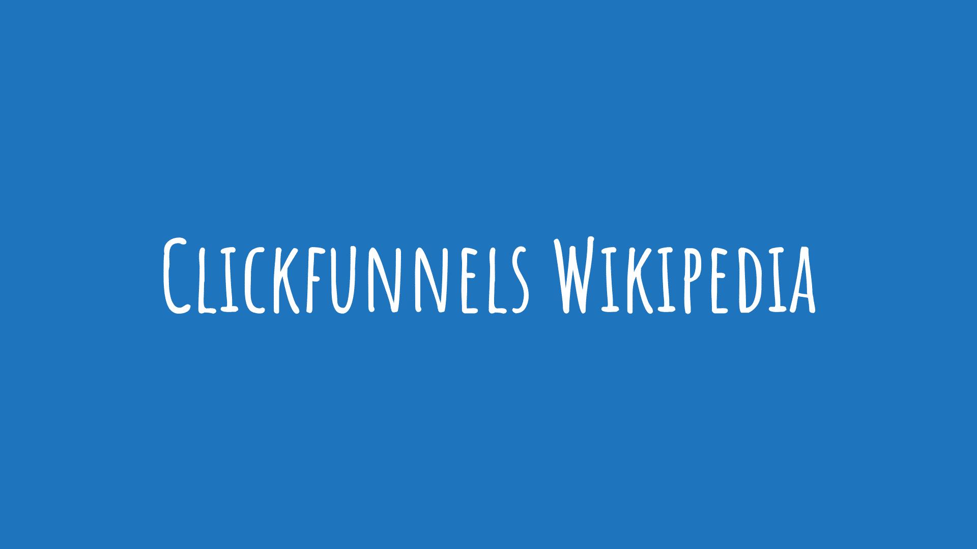 Clickfunnels Wikipedia