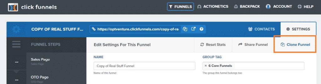 Clone A Funnel In Clickfunnels