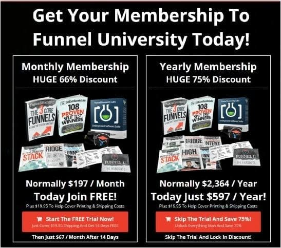 Funnel University Pricing