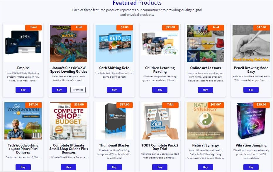 Affiliate Products on Clickbank