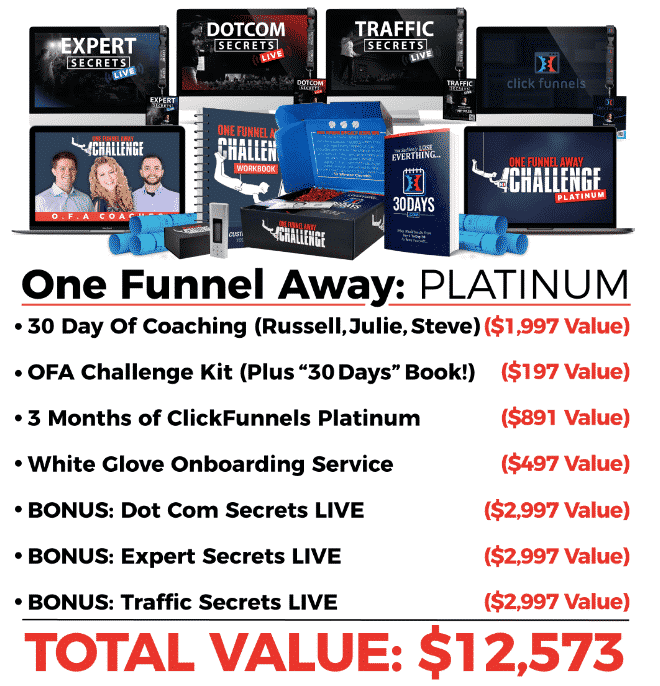 What's Inside One Funnel Away Platinum