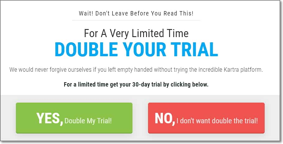 Kartra 30 Days Trial