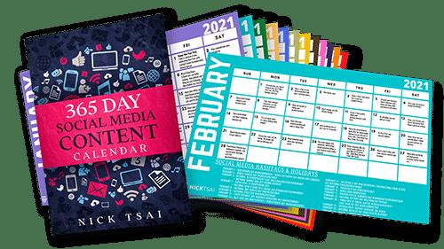 Social Media Content Calendar by Nick Tsai
