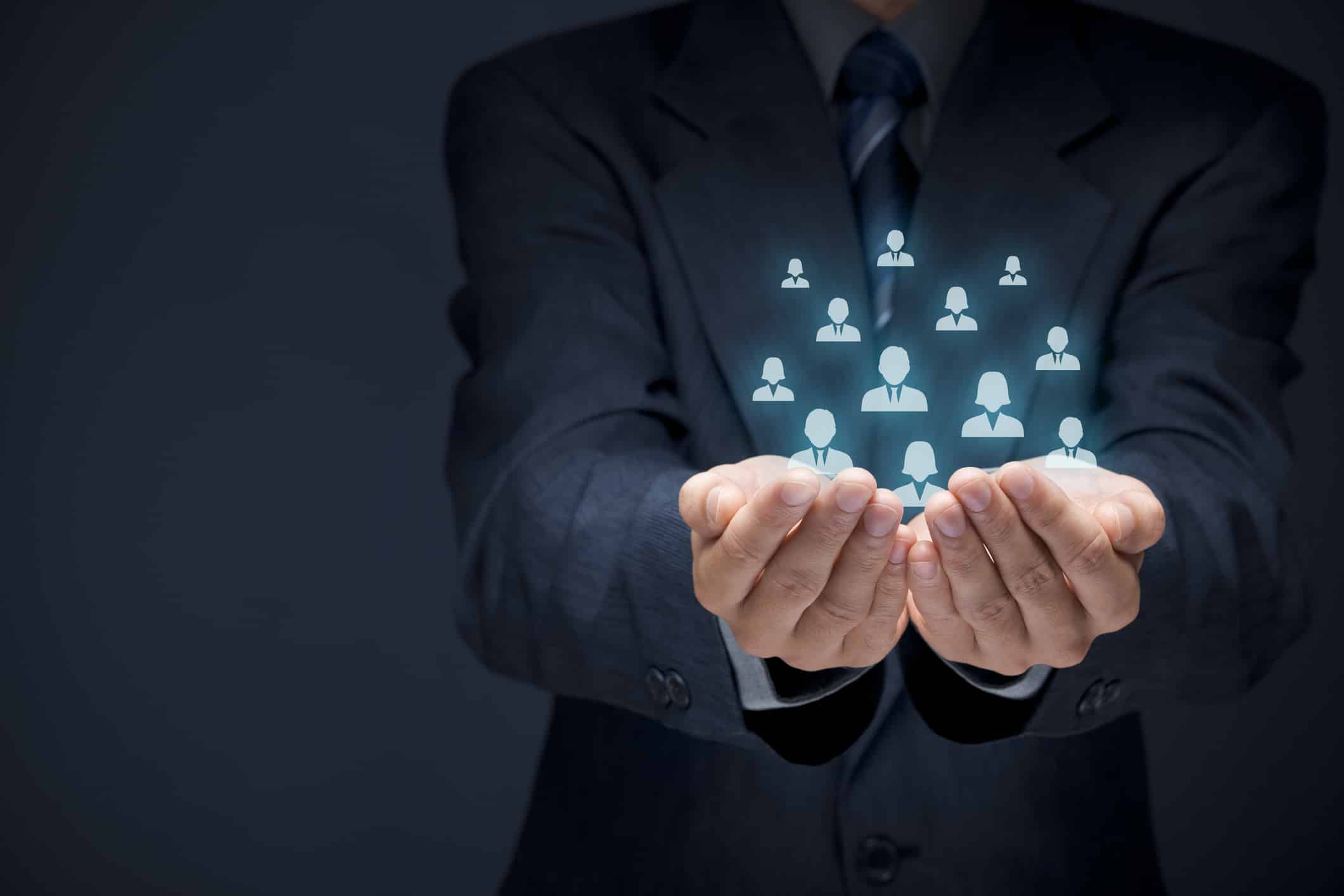 UploadeCustomer or employees care conceptd